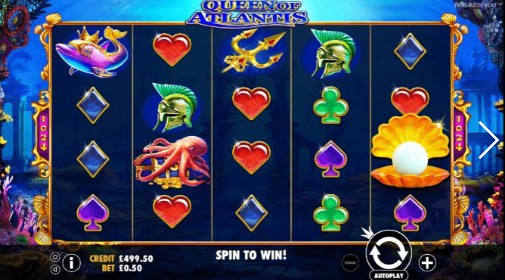 Queen Of Atlantis Casino Games