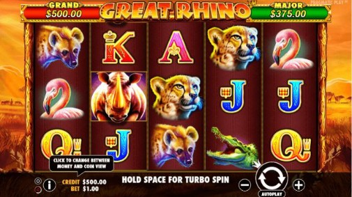 Great Rhino Casino Games